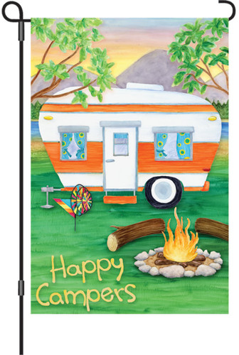 Happy Campers Garden Banner