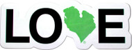 "Love Michigan 2"" Sticker - Green"