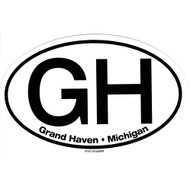 Grand Haven Michigan Large Oval Sticker