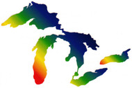 Great Lakes Proud Sticker - Rainbow