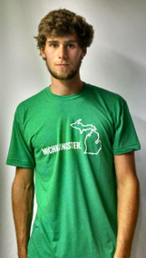 Michigan Awesome Michigangster Tee: Kelly Green
