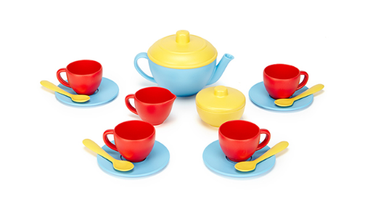 Green Toys Tea Set: Blue