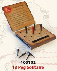 Trade Route Games: 13 Peg Solitaire