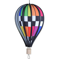 "18"" Checkered Rainbow Balloon"