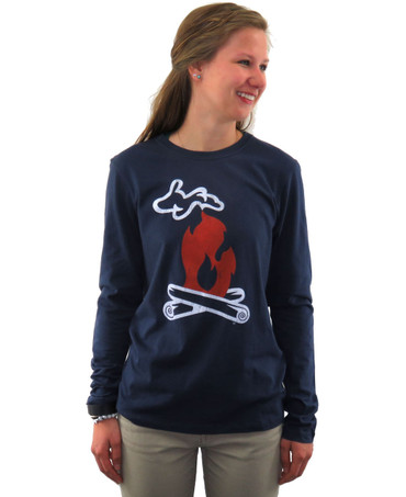 Ladies LS Fire - Navy