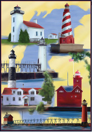 Michigan Lighthouses House Banner