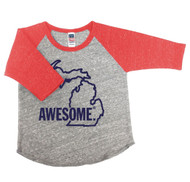 Baby Baseball Tee - Red Sleeve