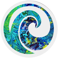 Wave Art sticker