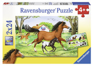 World of Horses 2x24pc Puzzle Box