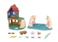 Calico Critters Secret Island Playhouse - Box Contents
