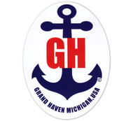 Grand Haven Anchor Sticker