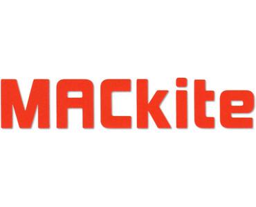 "6.5"" Orange MACkite Block Letter Sticker"