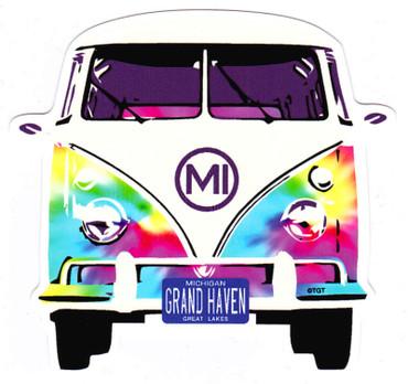 Tie Dye VW Bus GH Sticker