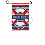 Welcome Aboard Burlap Garden Flag