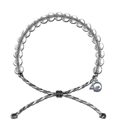 4Ocean Bracelet - Shark Grey & White