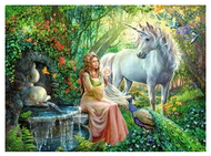 Princess & Unicorn 100pc XXL Puzzle - Completed