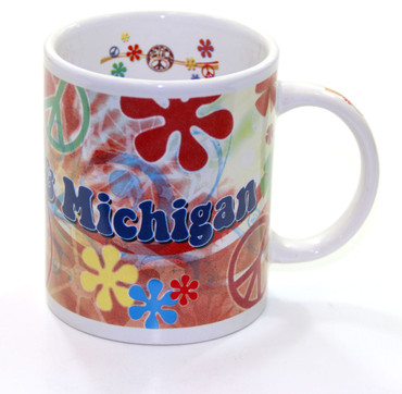 Peace, Love & Michigan Mug