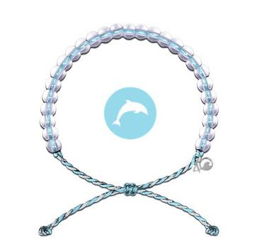 4Ocean Bracelet - Porpoise Blue & White