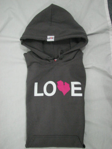 Love Michigan Pullover Hoodie - Charcoal