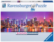 Manhattan Lights Panoramic 1000 pc Puzzle