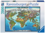 World Map 2000 piece puzzle by Ravensburger