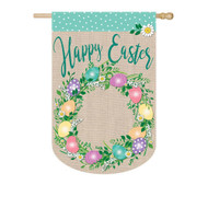 Easter Egg Wreath Burlap banner