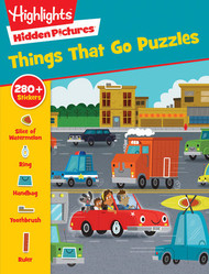 Things that Go Puzzle and sticker book by Highlights