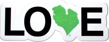 Green Love MI bumper sticker