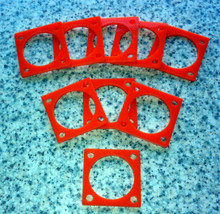Guying rings suitable for light weight telescopic masts.