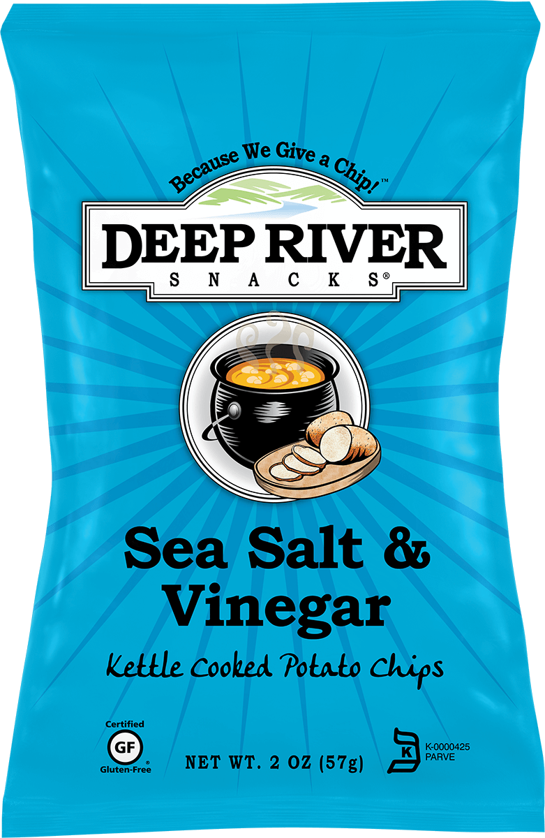 Deep River Sea Salt and Vinegar Potato Chips 2oz - Zeb\'s General Store
