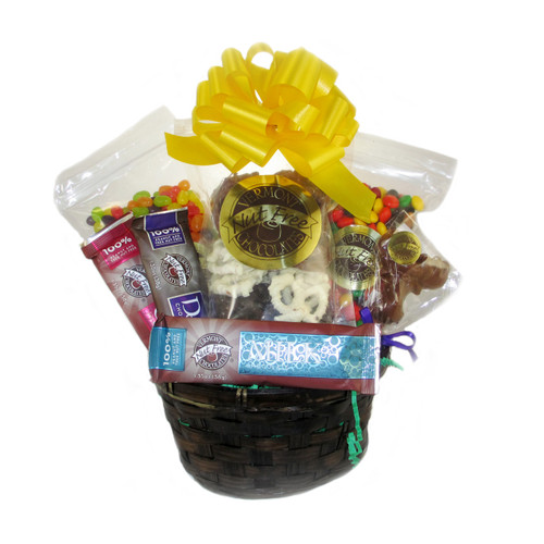Nut free sweets gift basket image 1 negle Image collections