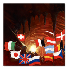 Giclee Print Warriors Of The World - Back