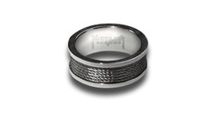 "Stainless Steel Ring ""Guitar & Bass String Style"" (+ Gift Box While Supplies Last)"