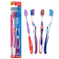 Assured Adult Medium-Bristled Toothbrushes, 2x PACK/ CASE 36CT.