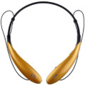 HBS-800 Gold Color Wireless Bluetooth Neckband Stereo Headset, Retail Pack.