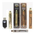 Brass Knuckles Battery Rechargeable 510 Thread Vape Pen *Wood, Gold, Silver*, 650mah 900mah Variable Voltage With Retail Pack