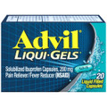 ADVIL LIQUI-GELS 20'S (20 Count) 6 Units
