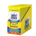 WET ONES ANTIBACTERIAL HAND WIPES TRAVEL PACK, CITRUS SCENT, 10 PACK BOX 20 COUNT EACH BAG.