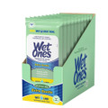 WET ONES ANTIBACTERIAL HAND WIPES TRAVEL PACK, FOR SENSITIVE SKIN, 10 PACK BOX 20 COUNT EACH BAG.