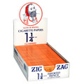 ZIG-ZAG Cigarette Paper 1 1/4 Orange 24ct./BOX-