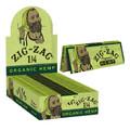 Zig Zag Organic Hemp Rolling Paper - 1 1/4 Ultra Thin Hemp Papers 50 Papers per Booklet, 24 Booklets per Box