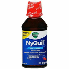 Vicks Nyquil Liquid Cherry 12 Fluid Ounces - 6 Per Pack
