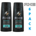 AXE Body Spray Deodorant *COLLISION* 150ML Pack of 6.