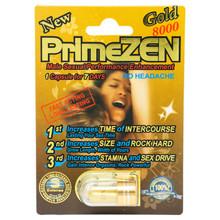 Prime Zen Gold 8000 - Premium Male Enhancement Pill, 1 Card