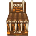 OCB Virgin Unbleached Cone 1 1/4 Size 32 x 6 Pack (192 Cones Total)