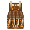 OCB Virgin Unbleached Cone 1 1/4 Size 32 x 3 Pack (96 Cones Total)