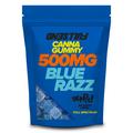 FULLSEND Canna Gummies *Blue Razz* 500MG 5 Bag Box.