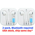 2 x Pcs. Wired Bluetooth Earphone for iPhone 7 8 Plus X XR XS MAX 11 Pro Max Stereo Sound, Free Shipping (OEM)