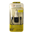 iPhone 5 USB Car Charger 1 PC, Black & White.