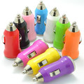 Universal Mini USB Car Charger Adapter Colorful 30 PCS/BAG WITH BARCODE.